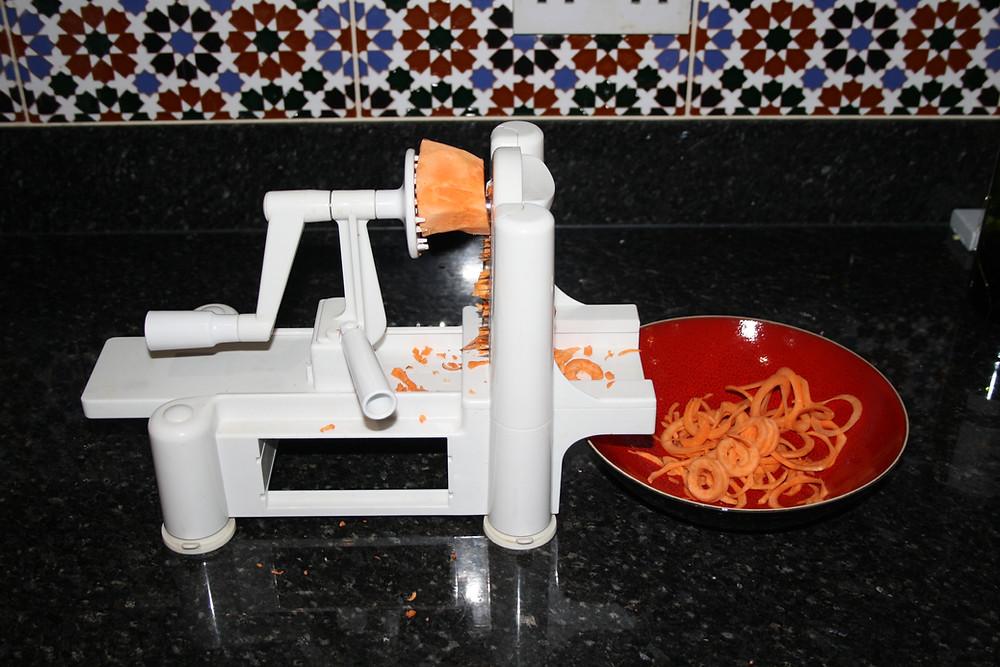 Spiralizer sweet potato   vegan, gluten free sweet potato noodle ramen recipe