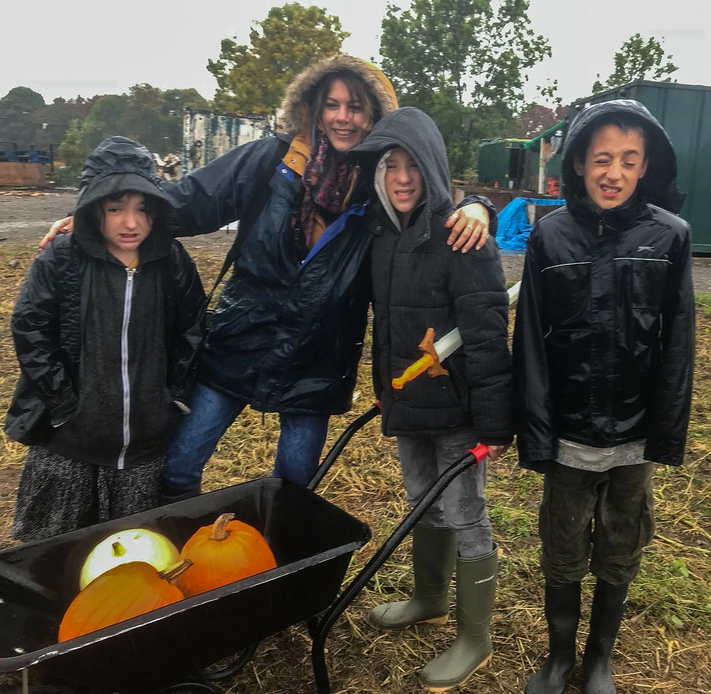 Me and the kids | Pumpkin Picking at Hewitt's Farm | Pumpkin Risotto | Vegan and Gluten Free Recipe | The Dopey Vegan