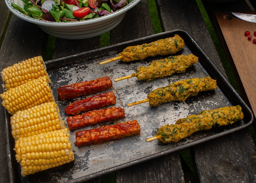 Uncooked ribs and kebabs | BBQ | Vegan BBQ | The Meat-Free Butchers by Sainsbury's | Meat-Free Options | Vegan Butchers | Vegan Meat | The Dopey Vegan