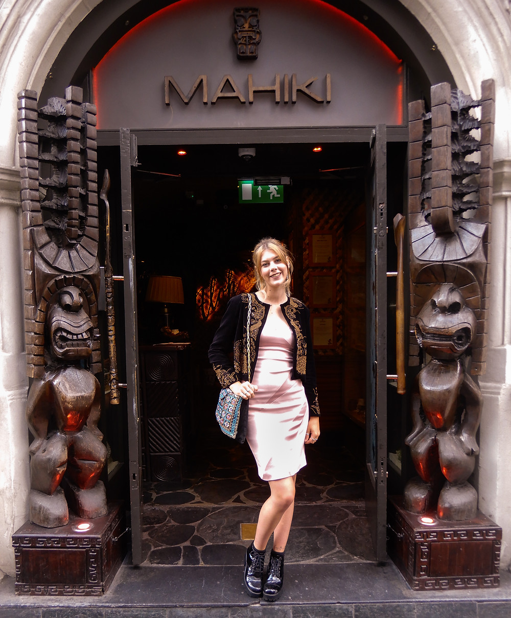 Outside Mahiki |  | Ethical Brand Directory's Second Birthday | Ethical Lifestyle Blogger | The Dopey Vegan