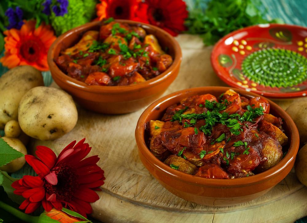 Bravo Potatoes | Patatas Bravas | Vegan and gluten free recipe | Vegan patatas bravas | The Dopey Vegan
