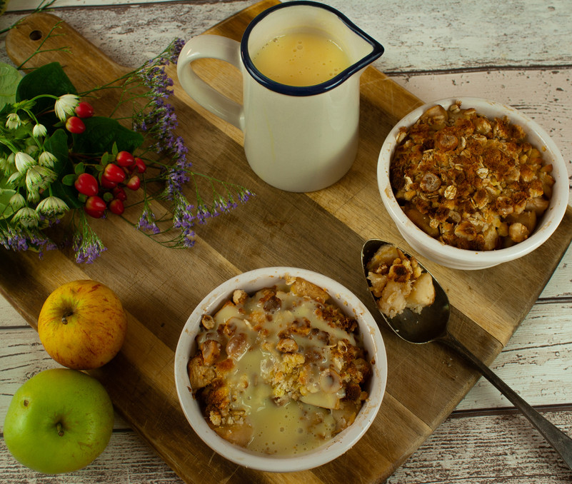 Apple, Coconut and Hazelnut Crumble