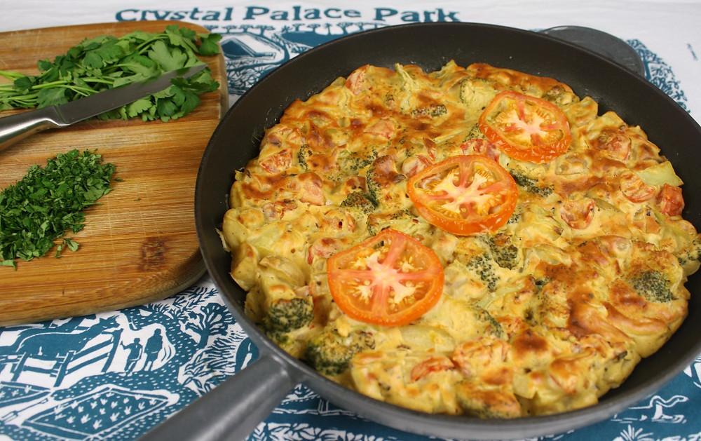 Vegan Veg Omelette   Vegan and gluten free recipe   The Dopey Vegan