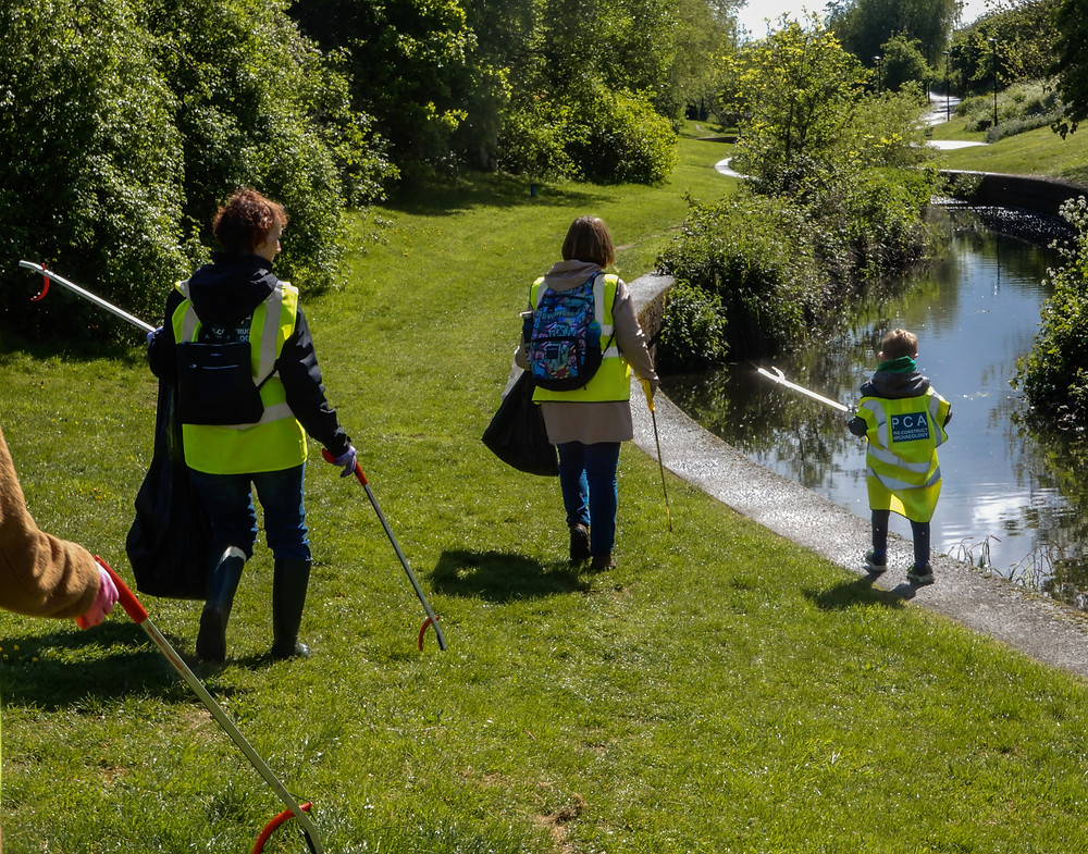 Volunteers walking beside the river | Great British Spring Clean | Litter Picking