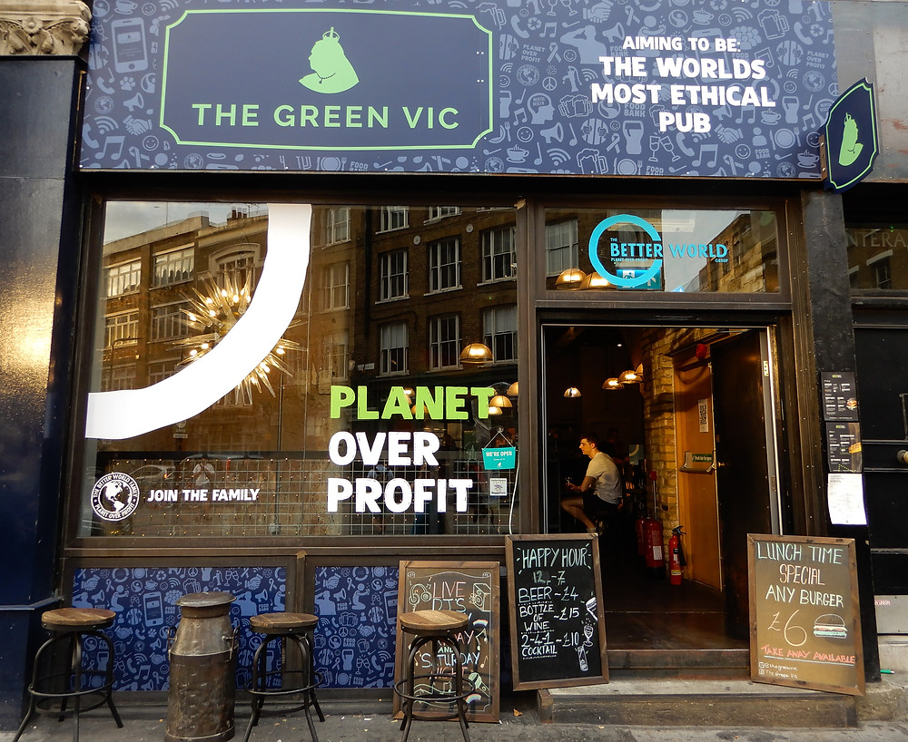 The Green Vic | The World's Most Ethical Pun | The Green Vic Review | Vegan Restaurant Review | The Dopey Vegan