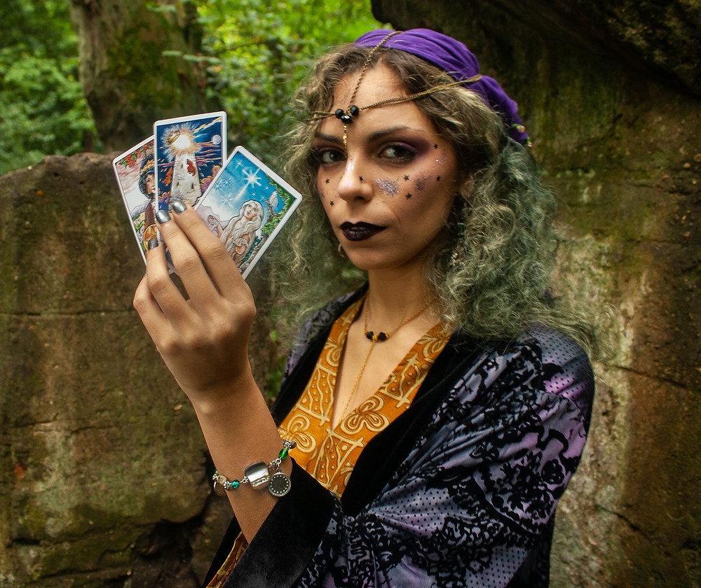 Fortune Teller | Ethical Halloween | Ethical and sustainable fashion | Ethical and sustainable fancy dress | The Dopey vegan x The Revival Collective