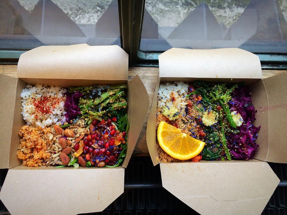 Mine and Jamie's bento box  | Bento Brunch Workshop + my own Bento Box | Vegan and gluten free recipe | The Dopey Vegan