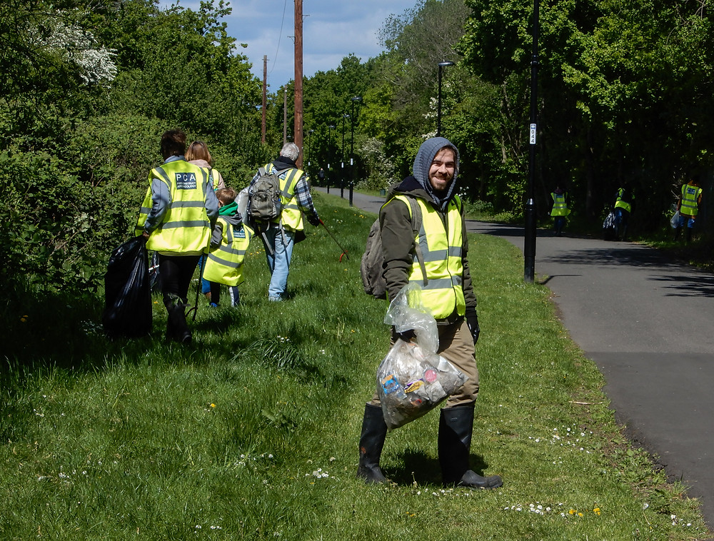 A gang of volunteers hard at work | The River Pool Spring Clean | Great British Spring Clean | Litter Picking