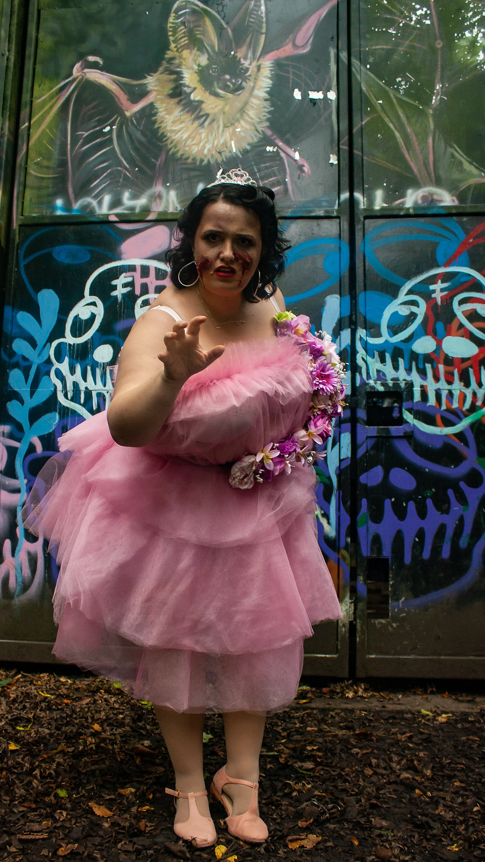 Zombie Prom Queen | Ethical Halloween | Ethical and sustainable fashion | Ethical and sustainable fancy dress | The Dopey vegan x The Revival Collective