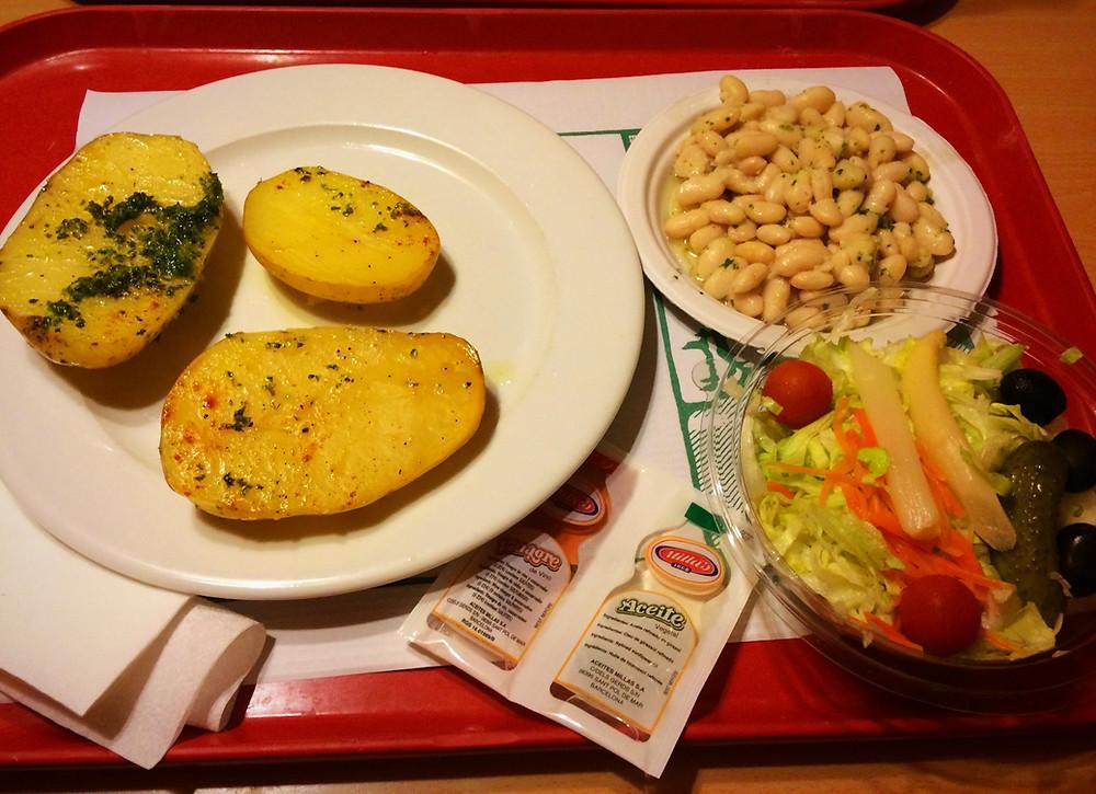 Montserrat Monastery cafeteria | Vegan and gluten free | restaurant review | Barcelona | The Dopey Vegan