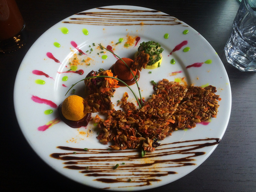 Raw Cheesy Balls   Fed by Water Review   Vegan Italian restaurant   The Dopey Vegan
