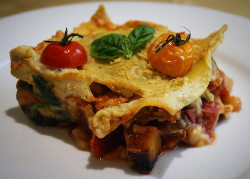 Pumpkin and Sweet Dumpling Squash Lasagna
