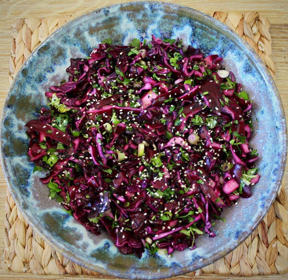 Sesame Red Cabbage | Vegan and Gluten Free Recipe | The Dopey Vegan