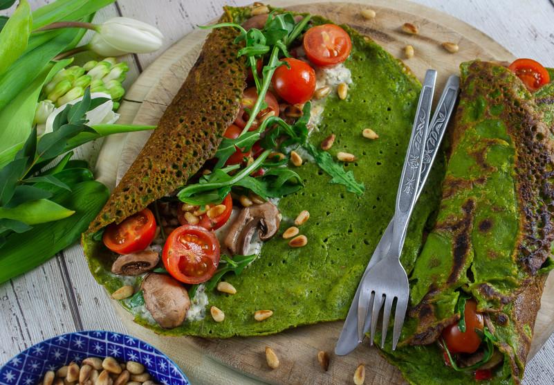 Green Pancakes!