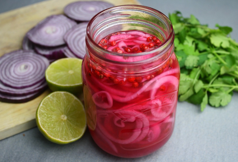 Pink Pickled Onions