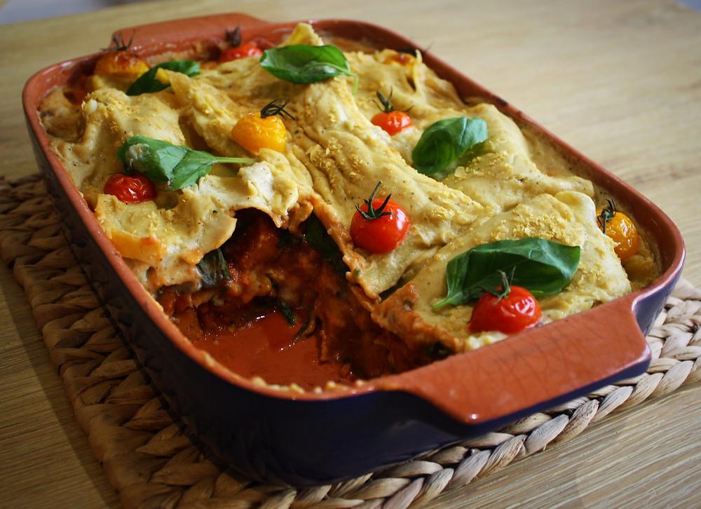 | Pumpkin and Sweet Dumpling Squash Lasagna | Vegan and Gluten Free Recipe | The Dopey Vegan