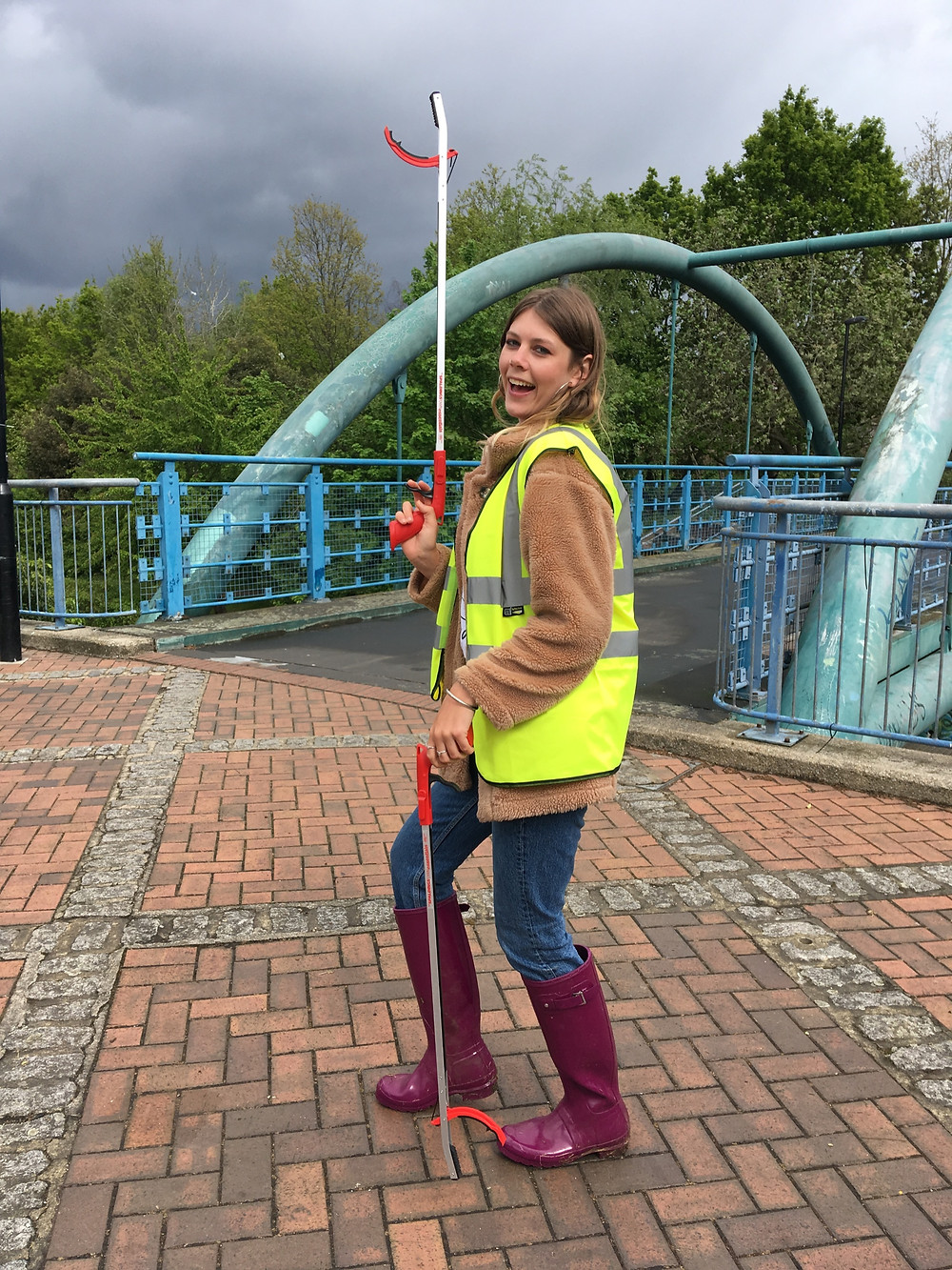 Me and my litter pickers at the River Pool Spring Clean | Great British Spring Clean | Litter Picking