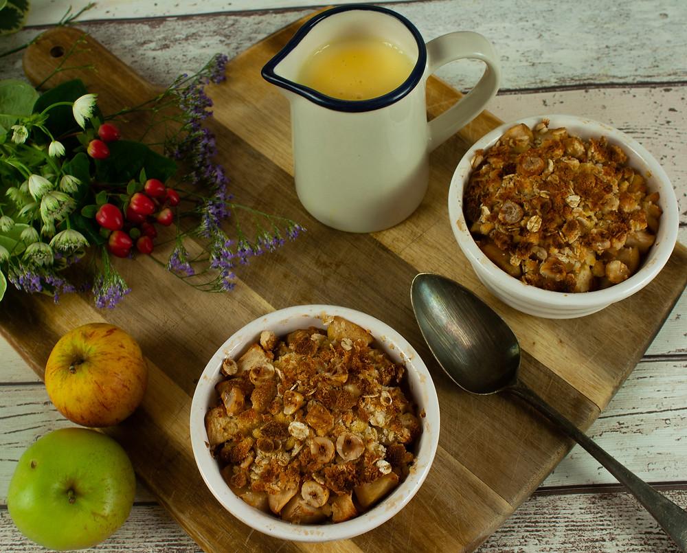 Apple, Coconut and Hazelnut Crumble | Vegan and Gluten free recipe | Vegan Apple Crumble | The Dopey Vegan