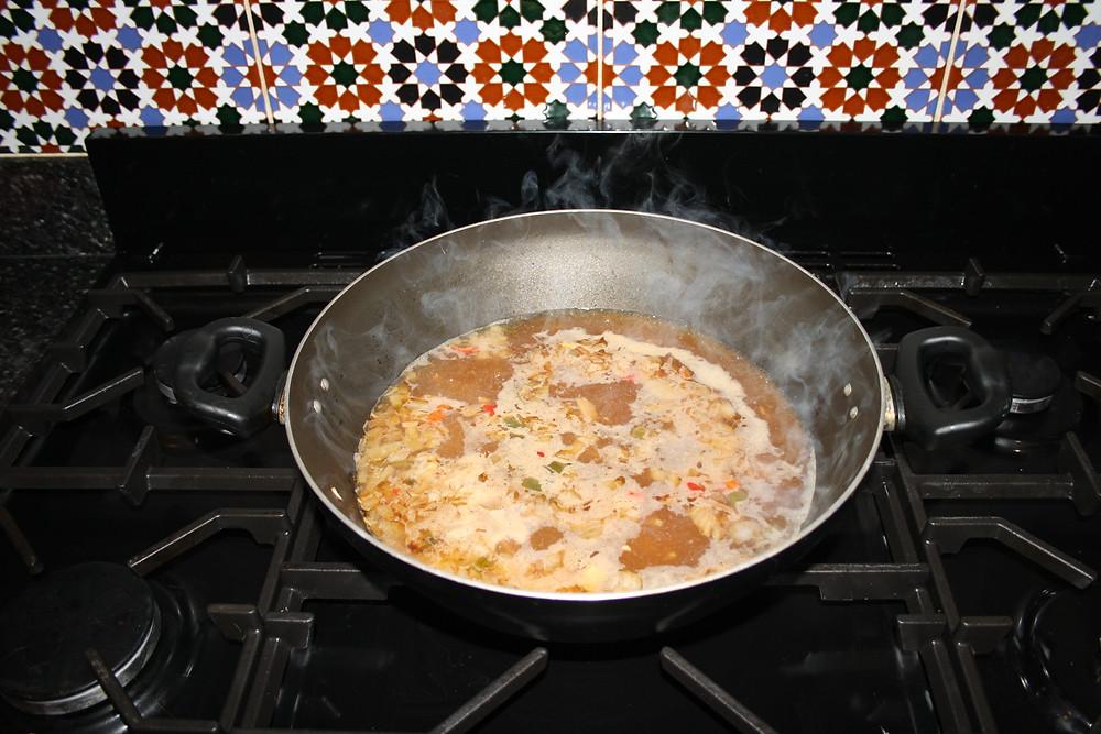 onions, ginger and chilli in miso broth   vegan, gluten free sweet potato noodle ramen recipe