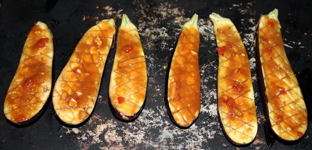 Miso Roasted Aubergine  | Miso Roasted Aubergine and Unicorn  Noodles | Vegan and Gluten Free Recipe | The Dopey Vegan