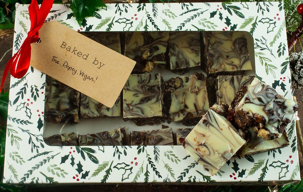 Gifting Tiffin  | Christmas Tiffin | Vegan and gluten free recipe | Vegan Recipe | The Dopey Vegan
