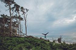 Handstand in der Natur