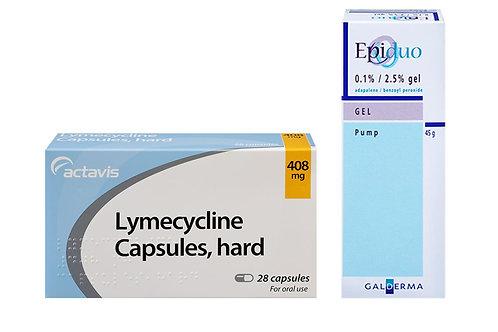 Lymecycline and Epiduo gel