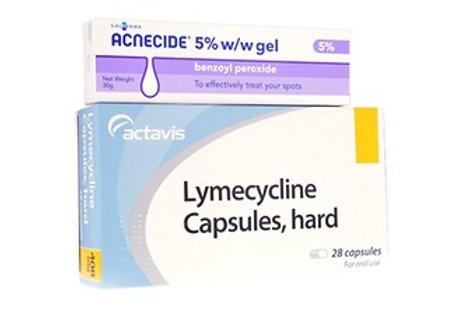 Lymecycline and Benzoyl Peroxide gel