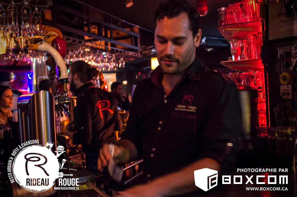 restaurant bar spectacle Le Rideau Rouge