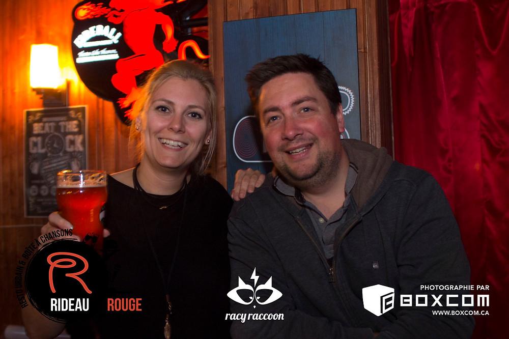 Racy Racoon au Rideau Rouge à Québec