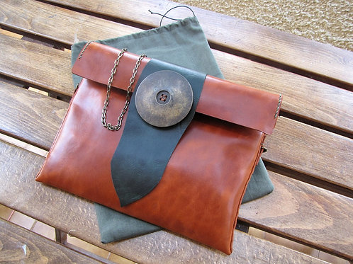 """Leather Clutch Bag """"Nora"""""""