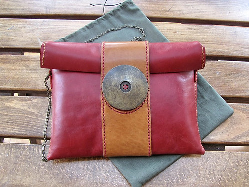 "Leather Clutch Bag ""Rita"""