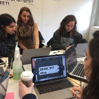 Team included Bridget Lewis, Sarah Strickler, Sarah Sivjee, and Jenna Shanker