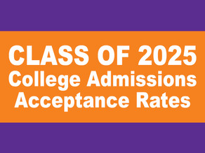 Class of 2025: College Admissions Acceptance Rates