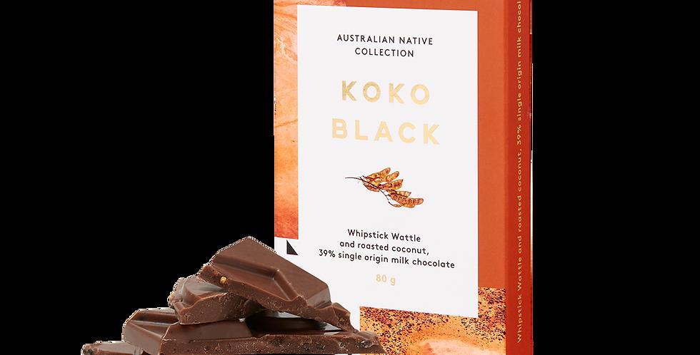 KOKO BLACK - Whipstick Wattle & Roasted Coconut Single Origin    Chocolate Block