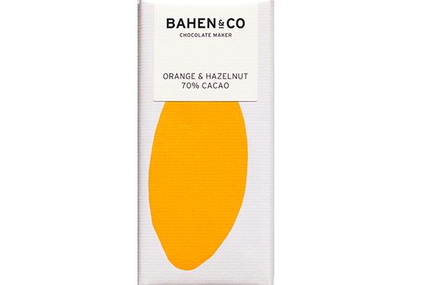 BAHEN - Orange & Hazelnut 70% Cacao 75g