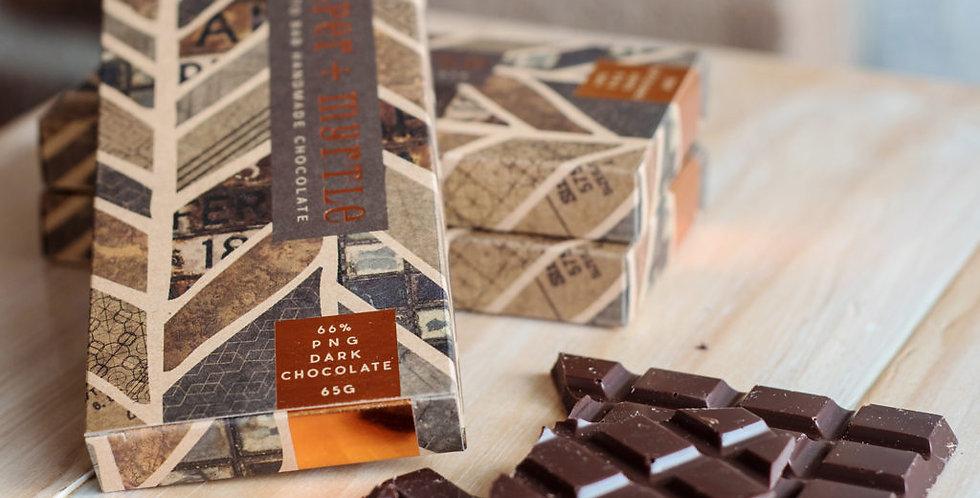 JASPER + MYRTLE - PNG Dark Chocolate 66% 100g