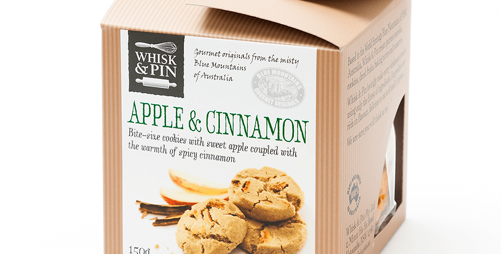 WHISK & PIN - Apple & Cinnamon Biscuits 150g