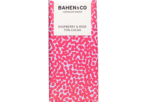 BAHEN - Rasberry & Rose 70% Cacao 75g