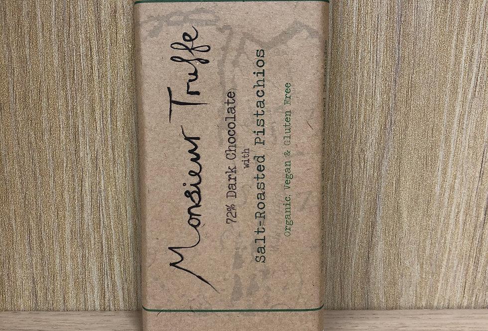 MONSIEUR TRUFFE - Dark 72% Salt Roasted Pistachios