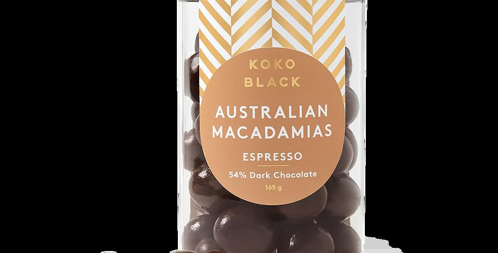 KOKO BLACK - Espresso Macadamias | Dark Chocolate