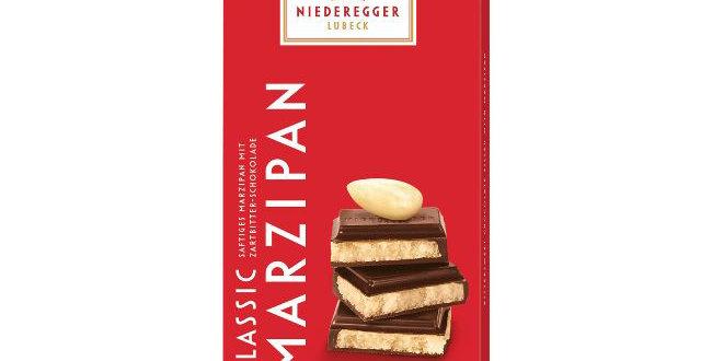 NIEDEREGGER - Marzipan Chocolate Bar Dark 110g