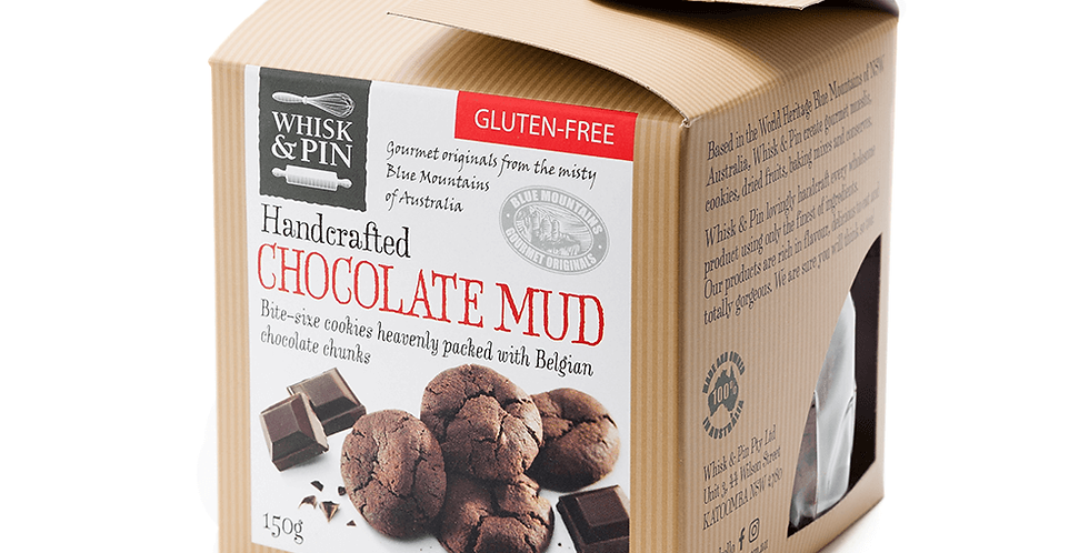 WHISK & PIN - Chocolate Mud Biscuits 150g
