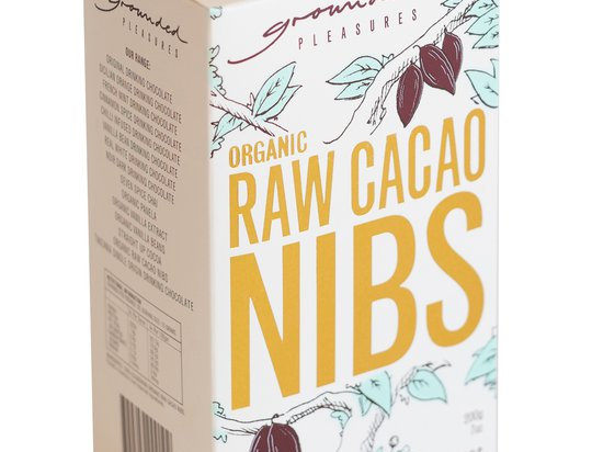 GROUNDED PLEASURES - Organic Raw Cacao Nibs 200g