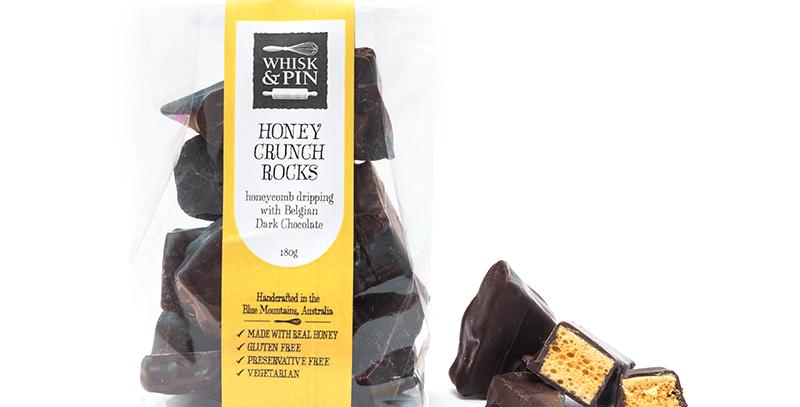 WHISK & PIN - Dark Chocolate Honey Crunch Rocks 180g