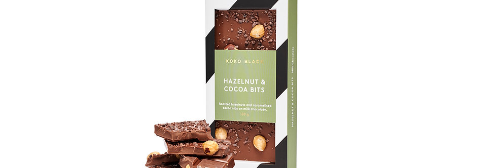 KOKO BLACK - Hazelnut & Cocoa Bits Milk 100g