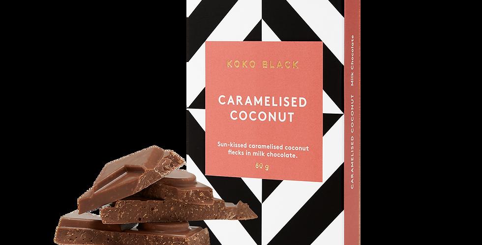 KOKO BLACK - Caramelised Coconut | Milk Chocolate Block