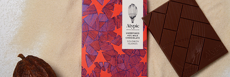 ATYPIC CHOCOLATE - 45% Milk Unrefined Solomon Islands