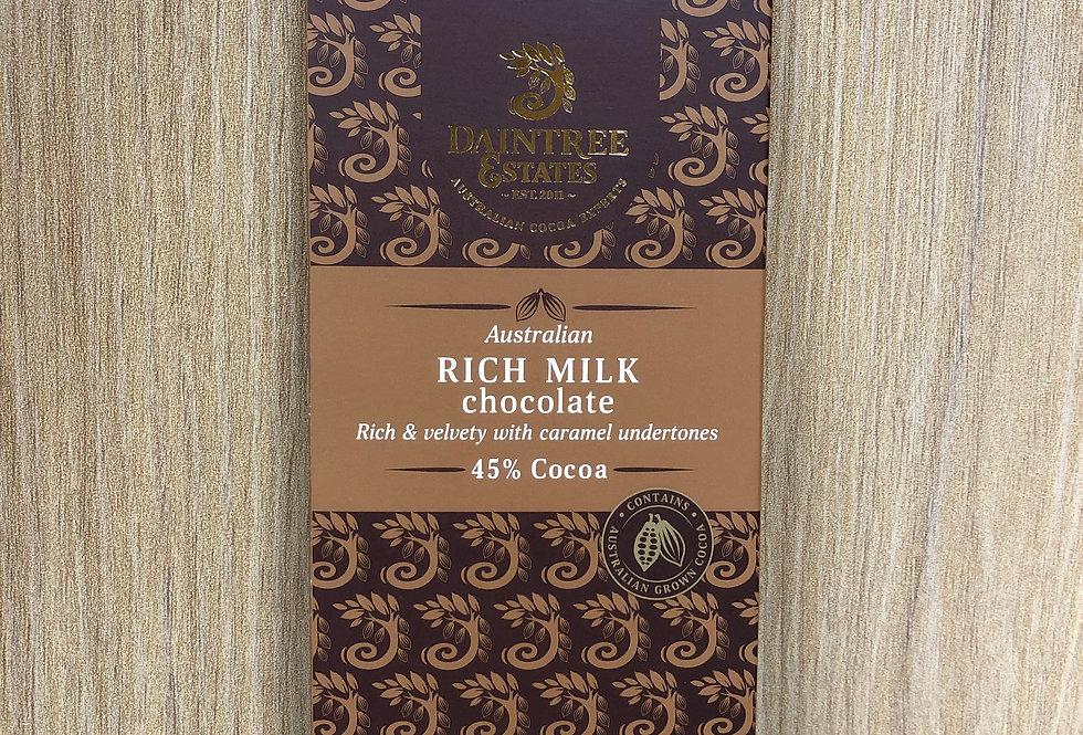 DAINTREE ESTATES - Australian Rich Milk 45% Cocoa 80g