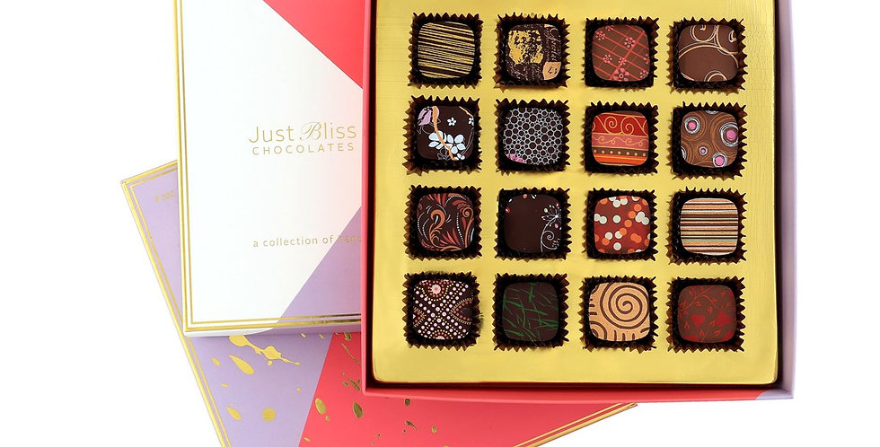 JUST BLISS - Couture Collection Milk and Dark 16 piece box